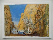 Leon Bakst Set design foe Le Dieu Bleu 1911 6x4 Inch Postcard New