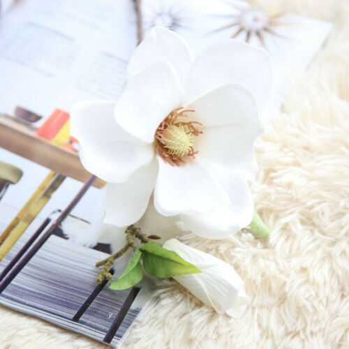 Decoration Artificial Magnolia Bouquets Craft Flower Wedding Garden Home Floral