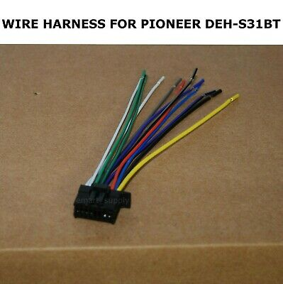 New Wire Harness For Pioneer Deh S31bt Dehs31bt Free Fast Shipping Ebay