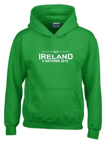 100/% in Irlanda sei nazioni 2019 Rugby Felpa con cappuccio da uomo