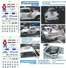 Decal 1/43 Porsche 911 GT2 VOH 24h Spa'01 #84 RARO limited Francorchamps