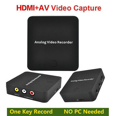 AV Recorder VHS Tape to Digital Format Converter Video Capture Record to TF Card