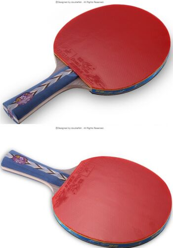 *5 Star Double Fish 5A-C  Table Tennis Racket Ping Pong Paddle Blade Bat FL USA