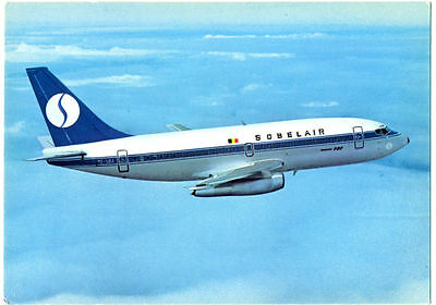 1980s Sobelair Inactive Airlines Boeing 737 Logo Color Photo Postcard Making Things Convenient For Customers