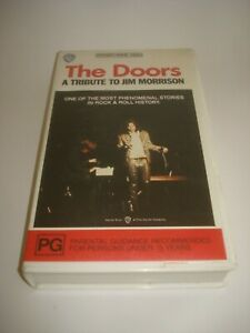 THE-DOORS-A-TRIBUTE-TO-JIM-MORRISON-VHS-VIDEO-TAPE-PAL-FREE-POSTAGE