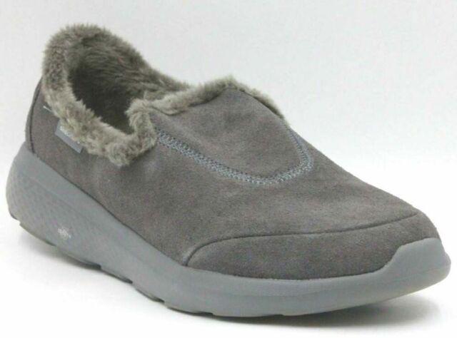 Charcoal Gray Brilliant Faux Fur Clogs
