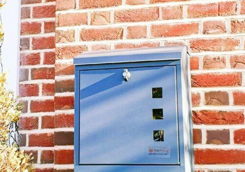 LETTER BOX  WEATHERPROOF LOCKABLE STYLISH PARCELBOX LARGE SECURE PARCEL