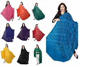 Women-039-s-Cotton-Dupatta-Bandhani-Soft-Cotton-Dupatta-Stoles-Free-Shipping