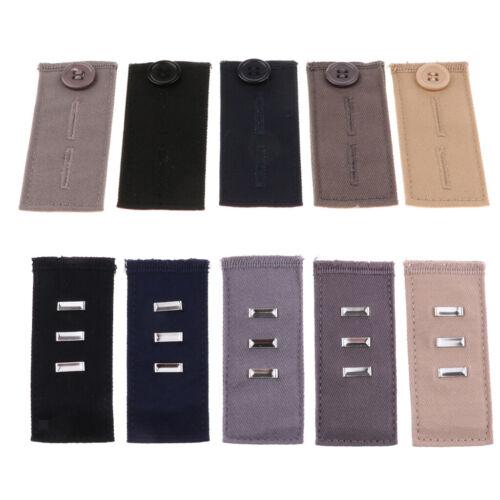Ajustement Facile Crochets Pour Pantalon bouton//Crochet Pantalon Ceinture Extender 5 Color Set
