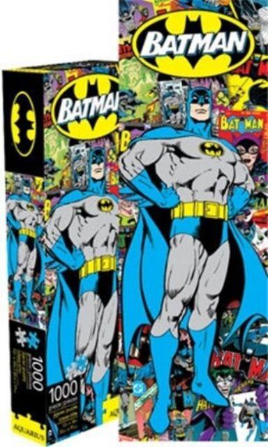 Batman Retro Comic Art Over Cover Collage 1000 Piece Slim Puzzle NEW SEALED