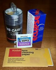 Camera Lens Cleaning Kit Lot Wipes Tissue SensorSweep Brush Cleaner Cloth Paper