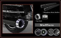 4.5 Megaphone Slid-on Mufflers Black S01 Jet End Caps For Harley Flhtc 1995-13