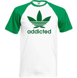 52192feaf4d Addicted Mens Funny T-Shirt Weed Dope Cannabis Marijuana Drug Humour ...