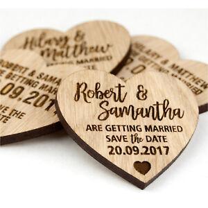 Wedding-Save-The-Date-Personalised-Wooden-Oak-Heart-Invitation-Fridge-Magnets