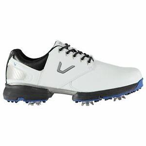Slazenger-Mens-V300-Golf-Shoes-Spiked-Lace-Up-Spikes