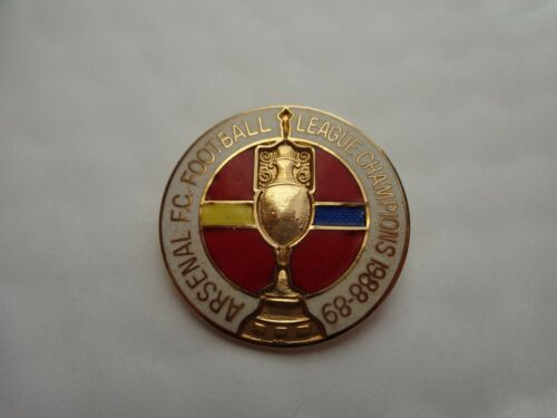 CLASSIC VINTAGE ARSENAL LEAGUE CHAMPIONS 198889 FOOTBALL PIN BADGE