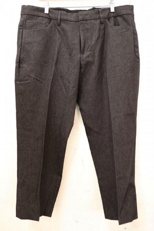 NWT - BUFFALO DAVID BITTON Men's KEVIN Charcoal DRESS PANTS - 38  x 32
