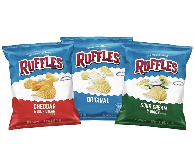 Ruffles Potato Chips Variety Pack, 40 Count