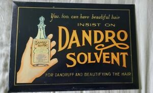 Vintage Dandro Solvent Advertising Sign by The Elwood Myers Co. Springfield Ohio