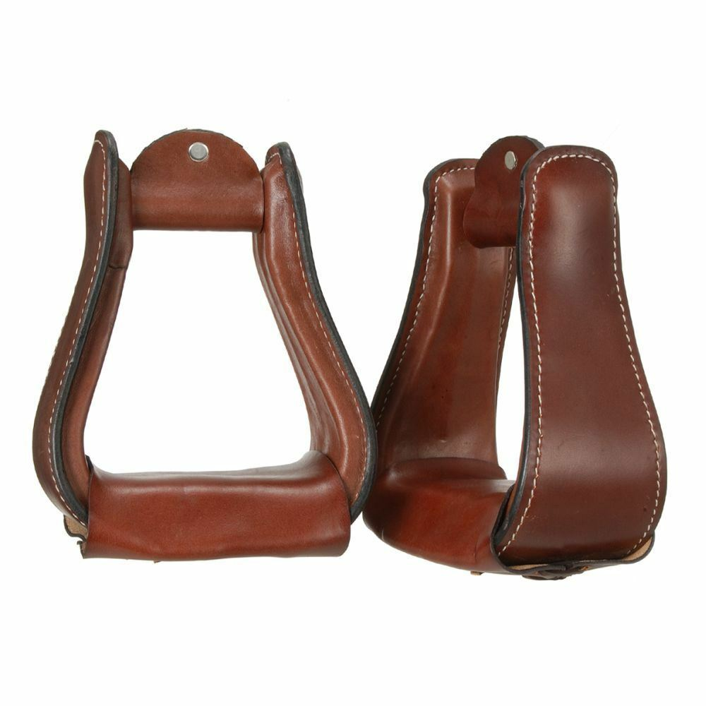 Tough-1 Wide Leather Leather Leather Coverosso Western Stirrups 5 1 4  Inside Height 343fc0