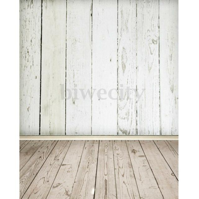 3x5ft white wood wall floor photography background backdrop photo