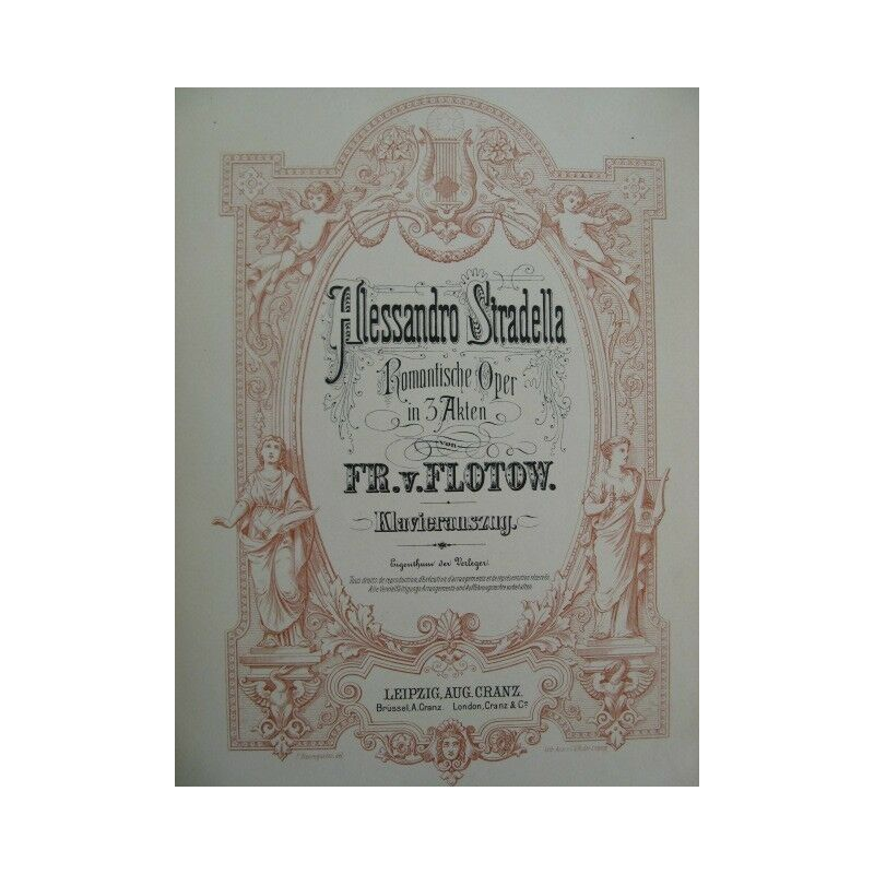 DE FLOTOW F. Alessandro Stradella Opéra Chant Piano ca1880 partition sheet music