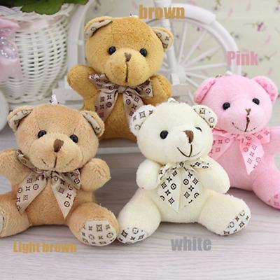 6PCS//Lot Mini Cute White Teddy Bear Toys Party Favors Souvenirs Soft Cotton New