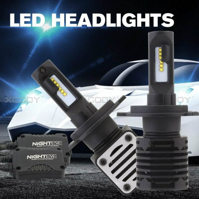 2x Nighteye H4 LED Lamp 80W 12000LM Headlight kit Bulbs Hi-Lo Beam Upgrade Globe