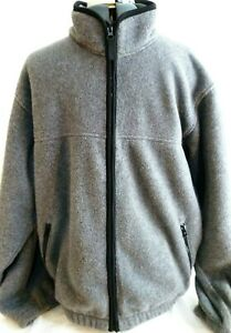 Eddie-Bauer-Mens-Full-Zip-Fleece-Jacket-Size-Medium-Gray-Thick-Fleece-amp-Warm