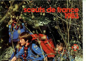 CALENDRIER-SCOUTS-DE-FRANCE-1983-non-Joubert-Non-Signe-de-Piste