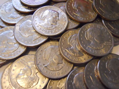 U.S Money Lot of 10 Susan B Anthony Silver Dollars All 1979-D SBA $1 Coin Hoard