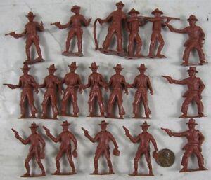 Vintage-1960-039-s-Marx-Play-Set-Cowboy-Pieces-MPC