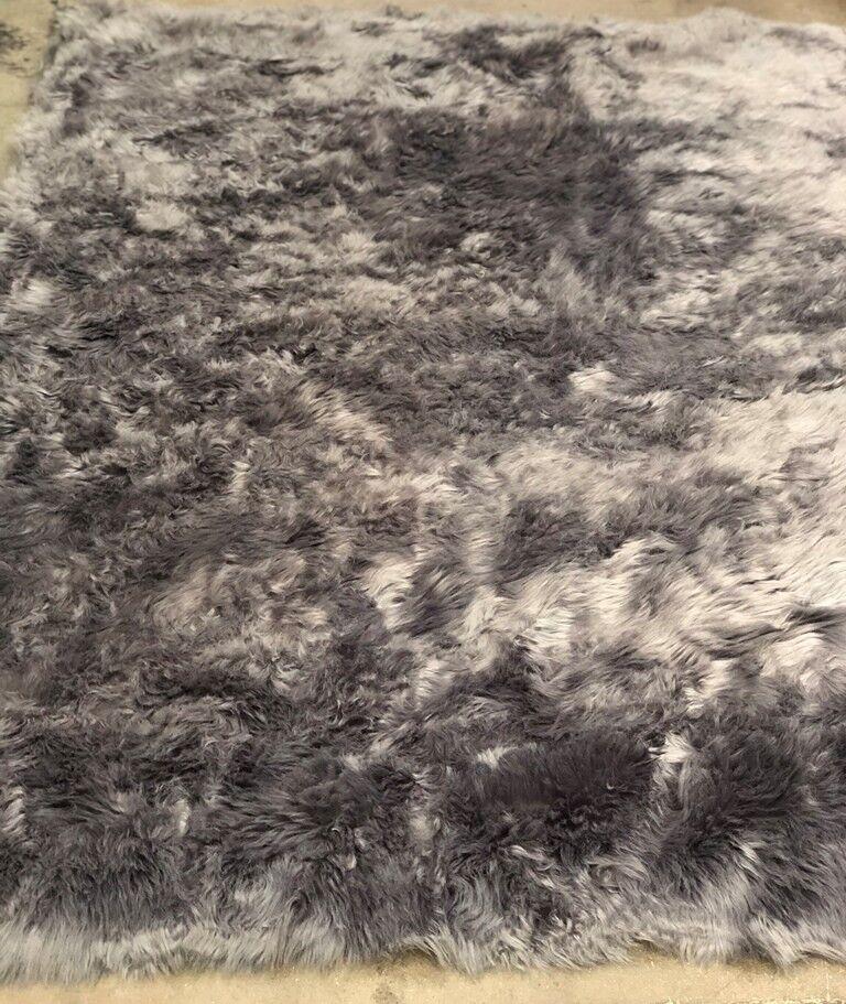 Brick & Barrow Tappeto Pelliccia Sintetica, Grigio, 140 x 200 cm