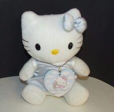 "Sanrio Hello kitty angel 8"" plush blue dress heart tag wings stuffed animal doll"