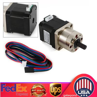 Nema17 42 Planetary Gear Box Stepper Motor 1.6A Reduction Ratio1:5.18 for 3D//CNC