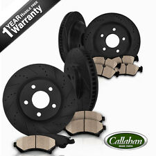 F+R BLACK DRILLED SLOTTED BRAKE ROTORS & CERAMIC PADS Fits: Infiniti Nissan