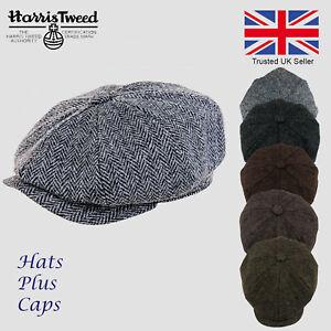Scott-Harris-Tweed-Newsboy-Peaky-Blinders-Cap-Grey-Black-Olive-Brown-Gatsby-Hat