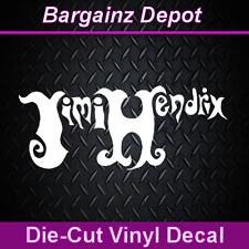 .. Vinyl Decal .. JIMI HENDRIX .. Logo Laptop Car Sticker Decal Awesome Design