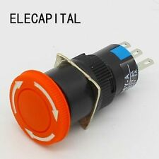 16mm Mushroom Emergency Stop E Stop Switch 3 Pins Nonc