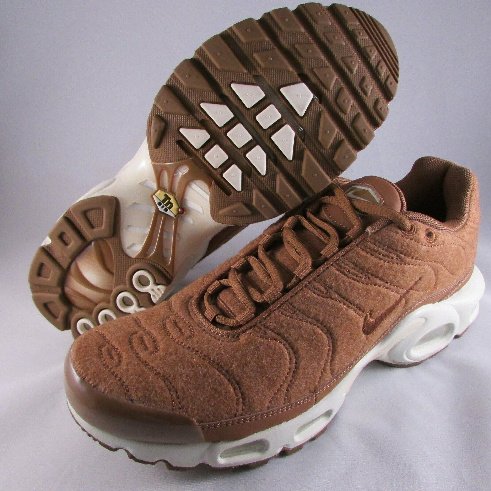 Nike Air Max Plus TN Running shoes Quilted Brown Ale Sz 8.5 NWOB 806262-200