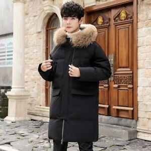 Winter-Men-039-s-Parka-Hooded-Fur-Collar-Puffer-Duck-Down-Coat-Jacket-Outwear-Warm