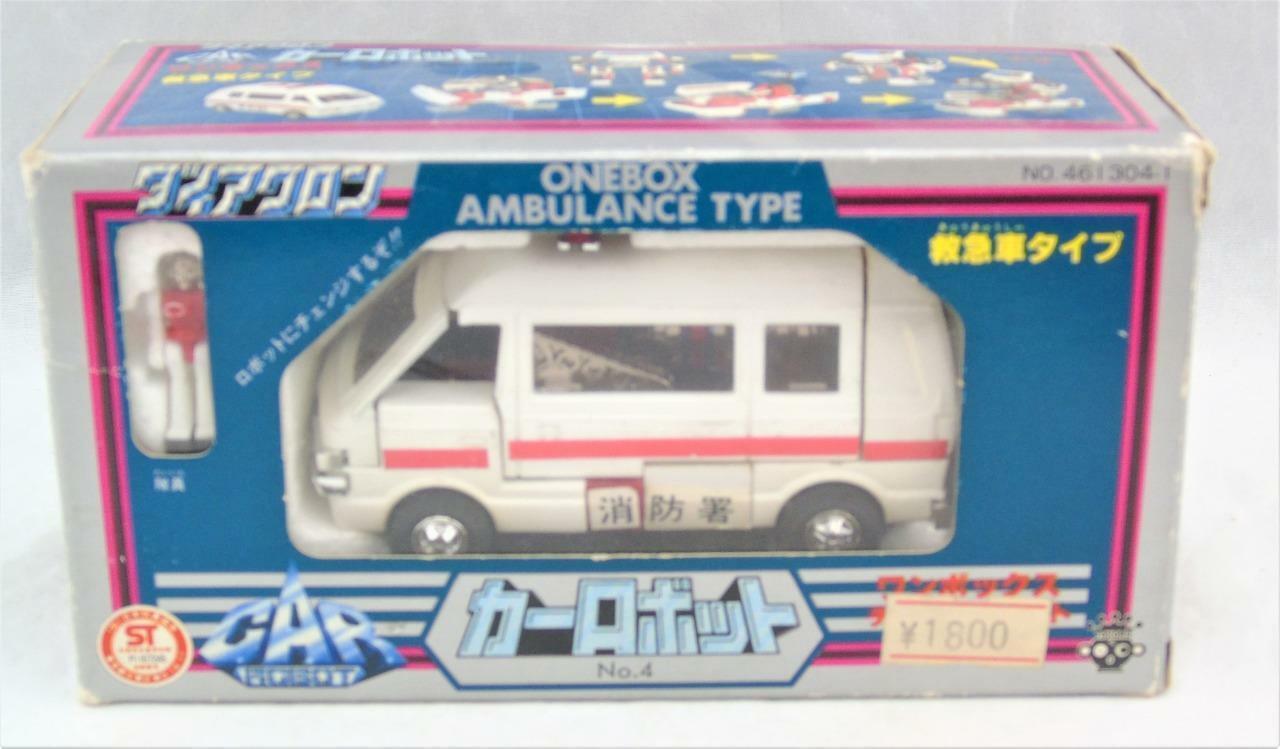 edición limitada Transformers Diaclone una una una caja Ambulancia Tipo Coche Robot Trinquete completo con caja  hasta 60% de descuento