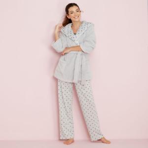 3b819fe53 Debenhams Grey Star Print Cotton Blend Pyjama Set Size UK 8 LF182 DD ...