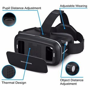 Virtual Reality Headset, SIDARDOE 3D VR Glasses for iPhone 6 6s Plus Samsung HTC