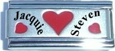 Italian Charms  Name Date Wedding Custom Made Superlink