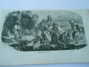 100% Vrai Gravure 1851 - Femmes Arabes à La Fontaine Effet éVident