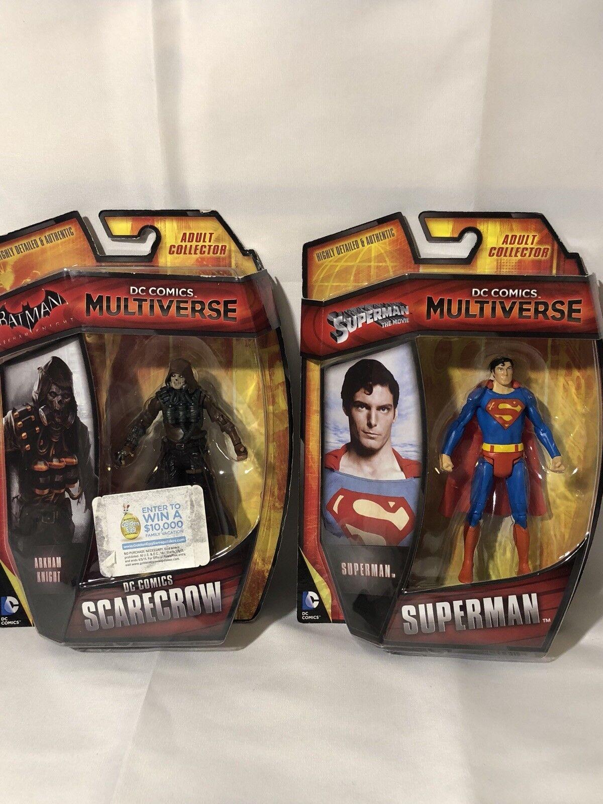 DC Comics Multiverse Superman the Movie Superman Figure 2013 With Scarecrow
