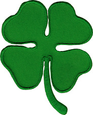 43023 Lucky Four Leaf Clover 4 Irish St Patricks Embroidered Sew Iron On Patch