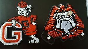"UGA Georgia Bulldogs Vintage Embroidered Iron On Patch (RARE) 3.5"" x 4"" AWESOME"