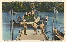 WW2 Era Pontoon Raft Carrying Truck, Fort Leonard Wood, Missouri Postcard